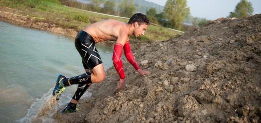 compression sleeves at OCR (obstacle course race)